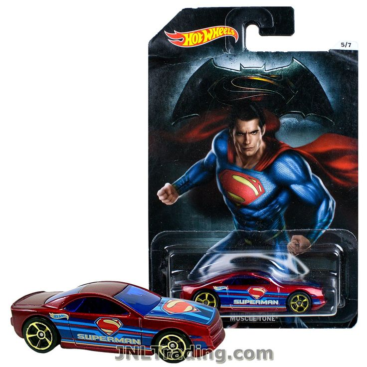Hot Wheels Year 2015 Batman vs Superman Dawn of Justice Series 1:64 Scale Die Cast Car Set 5/7 - SUPERMAN MUSCLE TONE DJL54
