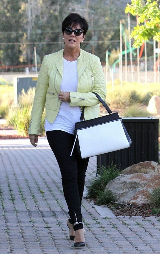 Kris Jenner with her #Celine Colorblock Edge Bag- Get your own now ...