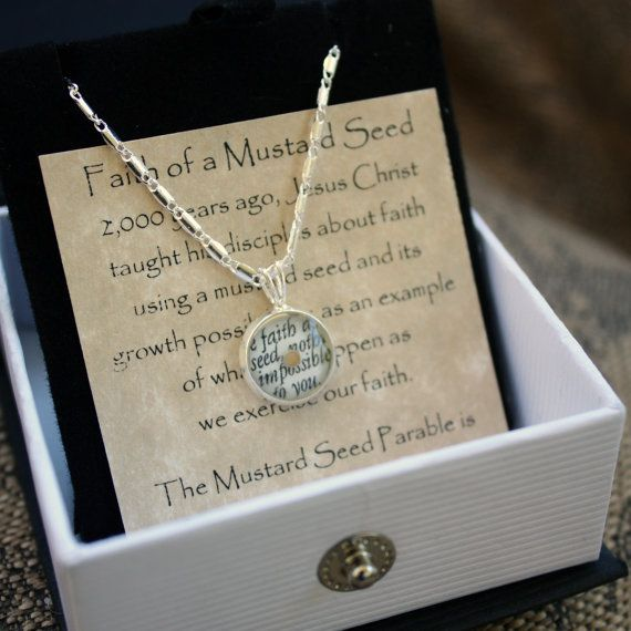 For Alma 32:28!  Faith of a Mustard Seed Necklace with Matthew 17 by LessonLites, $15.98