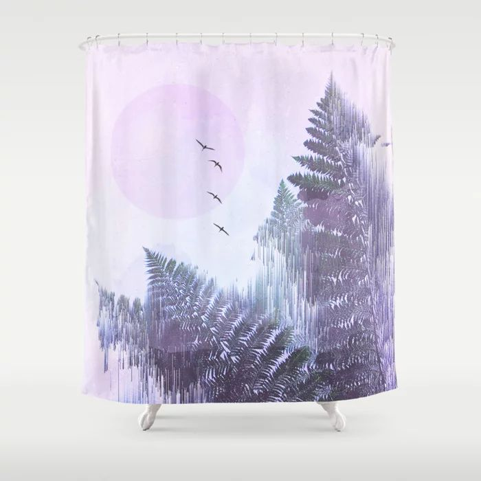 Buy Frozen Fern By The Moon Glitch Art Shower Curtain By Dominiquevari Worldwide Shipping Available At Society6 Com Just With Images Glitch Art Curtains Shower Curtain