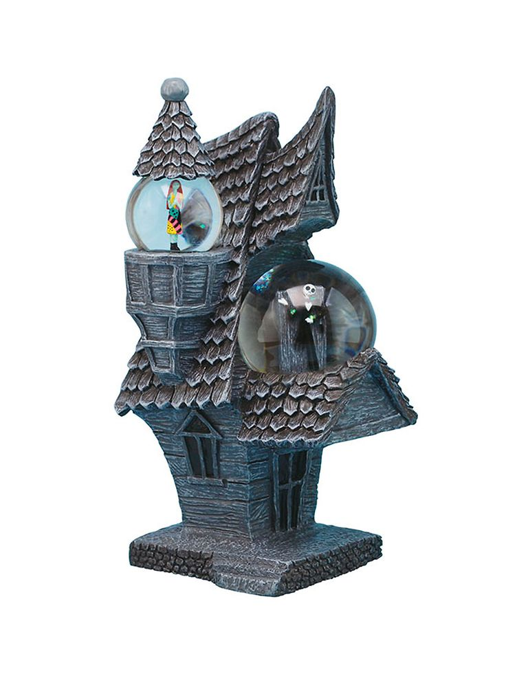 <p>Water globe from <i>The Nightmare Before Christmas</i> with a Jack and Sally in a house design.</p>  <ul> 	<li>Imported</li> </ul>