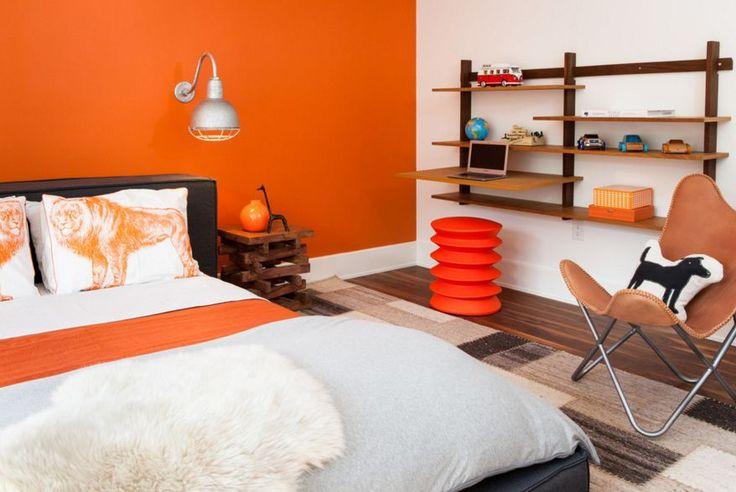 Tangerine bedroom wall paint