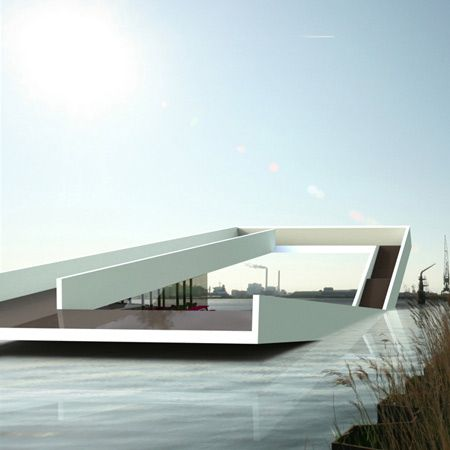 Urban Beach by O + A - Dezeen Floating swimming pool platform for the river IJ in Amsterdam. Viewing deck too! By Amsterdam Architects O+ A From: www.dezeen.com