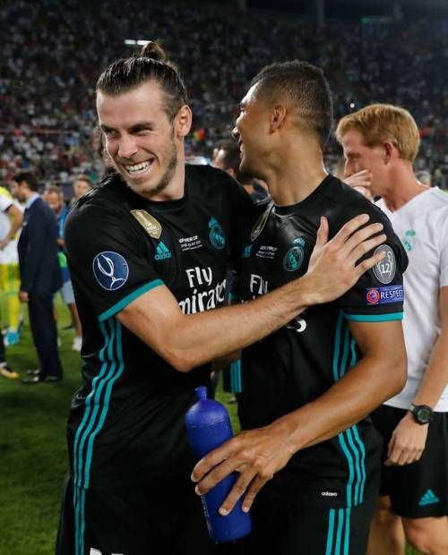 Gareth Bale and Casemiro Real Madrid UEFA Super Cup
