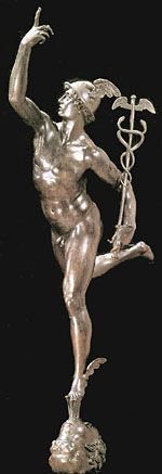 His winged shoes (talaria) are representative of Mercury's function as a go-between from the world of human affairs and the transcendant realm of…