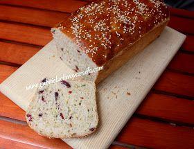 Pan de calabacín con arándanos