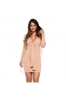 Camel Bodycon Dress | Going Out Dresses