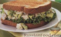 Фото к рецепту: Бутерброд с курицей и авокадо