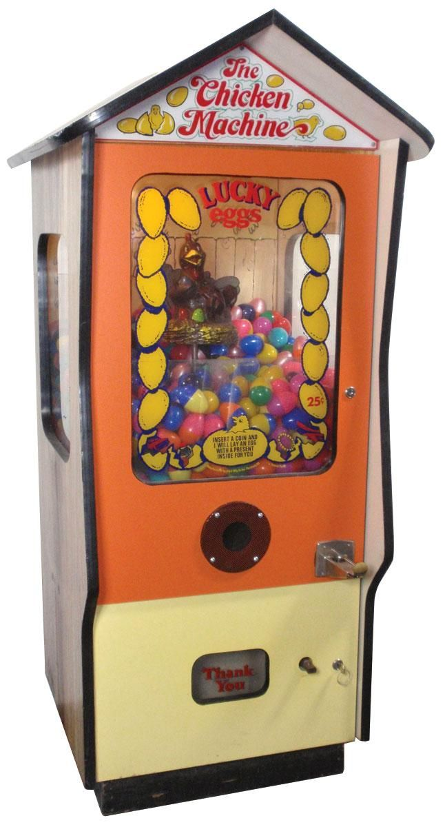 The Chicken Machine.. There was one of these in the Copps IGA and grandma gave me a quarter all the time.