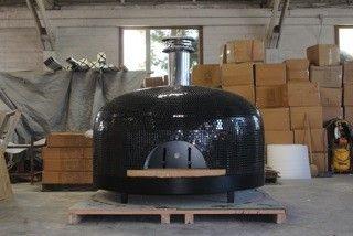 Forno Bravo Pizza Oven Napolino with black tile