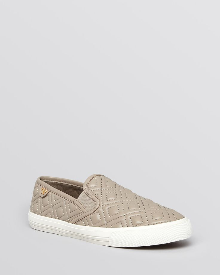 Tory Burch Flat Slip On Sneakers - Jesse Quilted