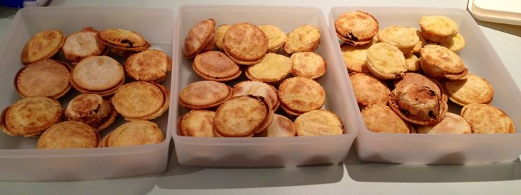 44 Mini Chicken, Leak and Mushroom Pies made by, you guessed it, ME!