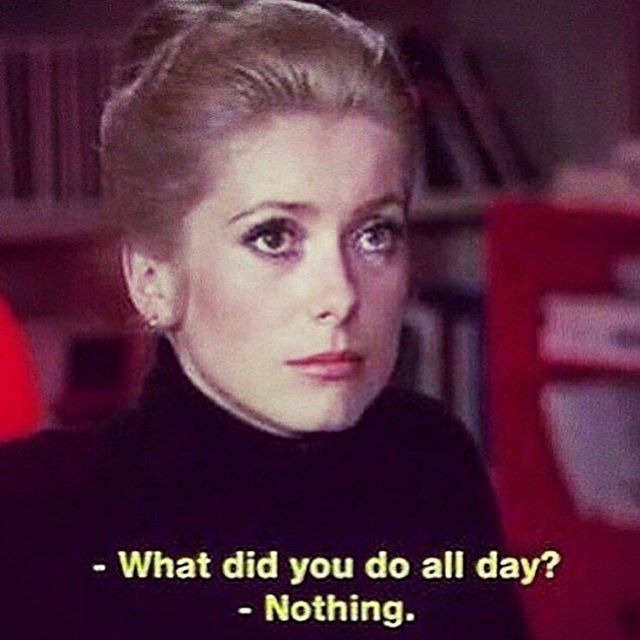 busy month. #howtobeparisian #CatherineDeneuve in Belle de Jour, directed by Luis Bunuel.