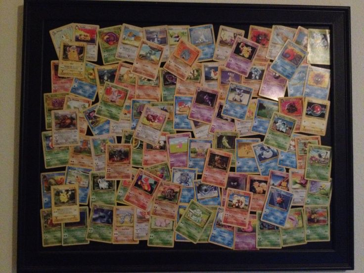 What to do with old pokemon cards?? Make art!!