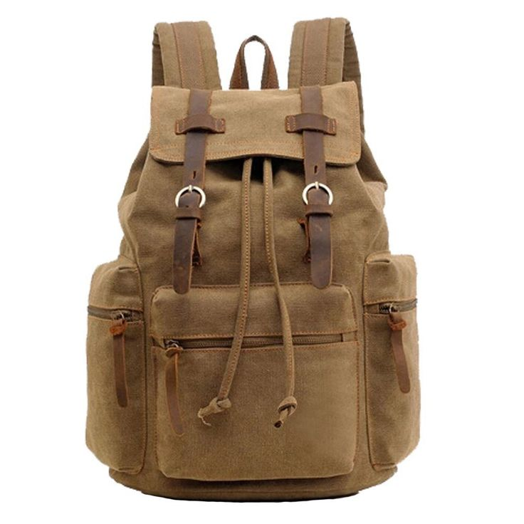 MONA Canvas Unisex Vintage Backpack Attractive for College Hiking Travel *** Trust me, this is great! Click the image. : Hiking backpack