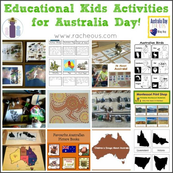 Educational Australia Day Activities - Learn about Australia Montessori style | via Racheous - Lovable Learning