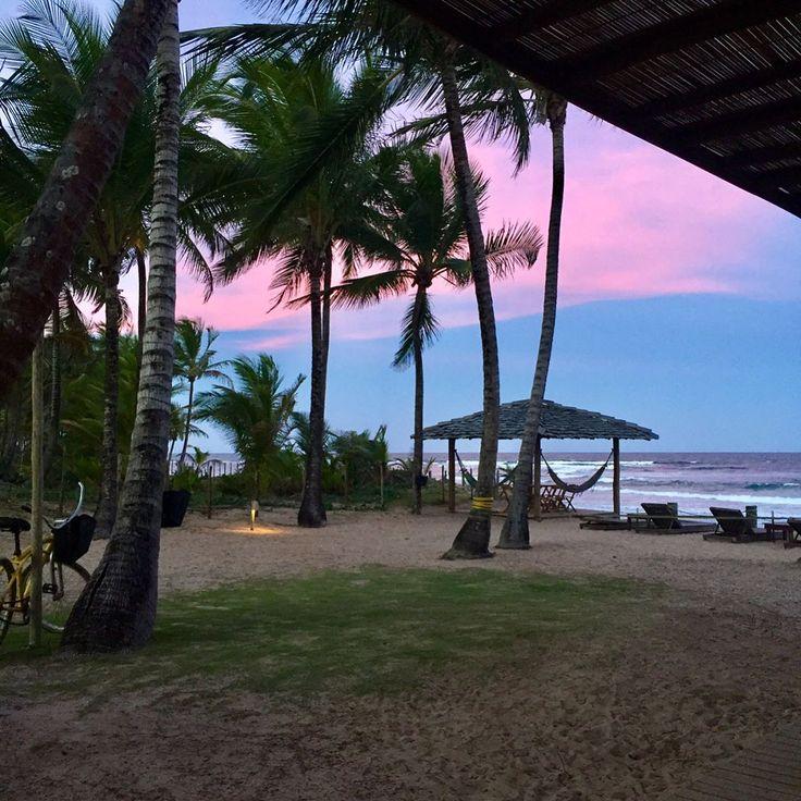 Aqui o fim de tarde é assim #beach #nofilter #taipudefora #ferias