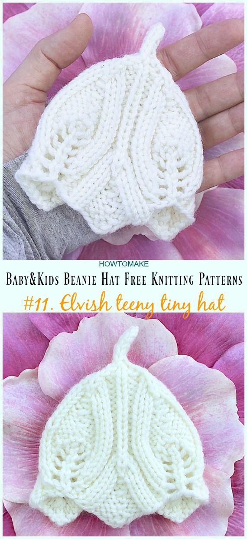 Baby & Kids Beanie Hat Free Knitting Patterns en 2018 | DOS AGUJAS ...