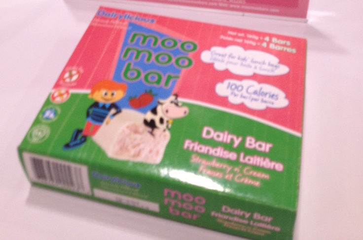 Moo bars are a cheesecake - inspired  treat that are thawed and served. Aimed at kids they are each 100 calories.
