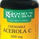 Acerola Masticable     ~$12.15  http://www.elpozodelasalud.es/compra/acerola-c-300-masticable-100-tab-goodn-natural-263063