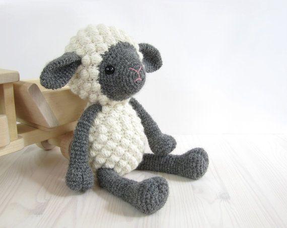 PATTERN: Sheep - Amigurumi lamb - Stuffed animal - Crochet pattern - Tutorial with photos (EN-052) on Etsy, $6.20