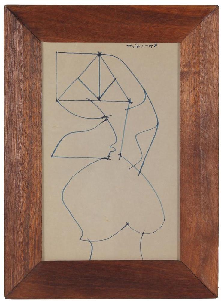 Santos Rene Irizarry, Mid 20th Century, Ink on PaperArt Marvel, Rene Irizarry, Abstract Art, Santo Rene, Mid 20Th, 20Th Century, Operation D Art, Art Painting'S Drawing, Colors Pattern Art