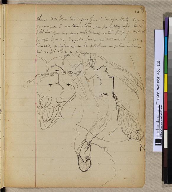 """Brouillon autographe pour """"A l'ombre des jeunes filles en fleurs"""""""