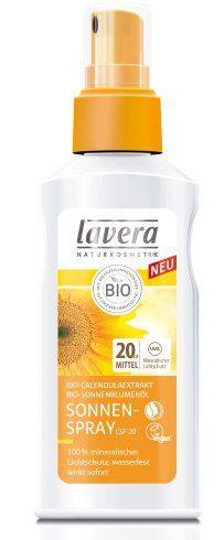 Spray przeciwsłoneczny z bio-nagietkiem i bio-olejem słonecznikowym LSF/SPF 20 Lavera