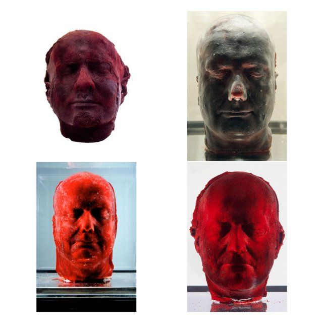 Marc-Quinn-Self-I-II-III-IV - Self 1991 Blood (artist's), stainless steel, perspex and refrigeration equipment 208H x 63W x 63D cms