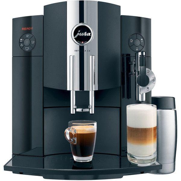 Jura IMPRESSA C9 One Touch Espresso & Cappuccino Maker ($2,100) ❤ liked on Polyvore featuring home, kitchen & dining, small appliances, jura, espresso machine, espresso cappuccino machine, espresso cappuccino maker and jura espresso machine