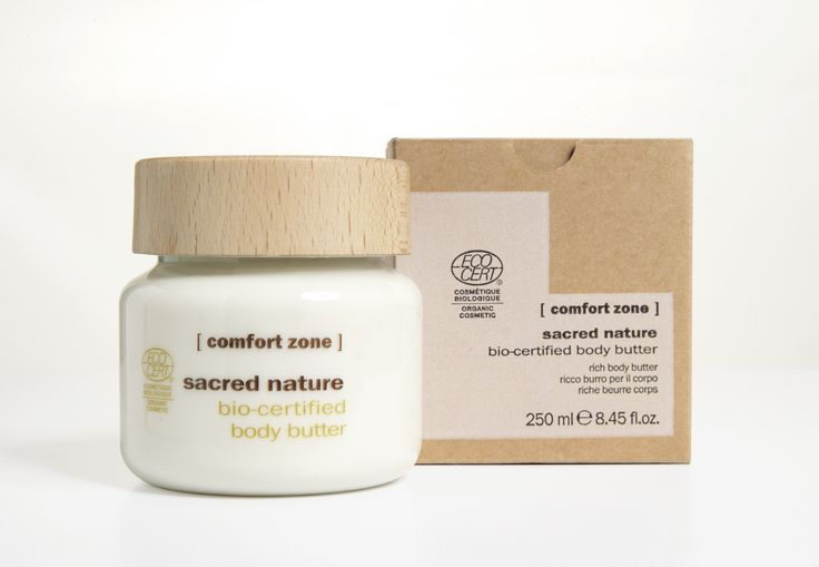 #ComfortZone Sacred Nature Body Butter. A deeply nourishing and shielding action on skin DNA, skin regains smoothness and elasticity, extending youthfulness of the tissues. With butterfly tree extract, buriti oil, karitè butter, organic orange distilled water and jojoba oil.