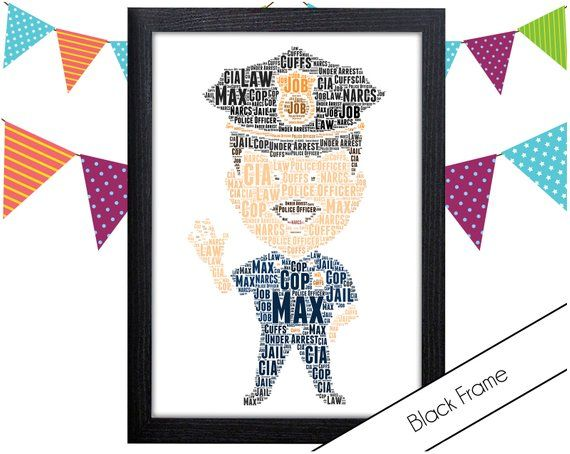 Personalised Word Art Gift Police Officer Gift Police Gift American Police Wall Art Wall Prints Wall Art Gift Wall Prints Pg0577 Police Officer Gifts Gifts For Office Police Gifts