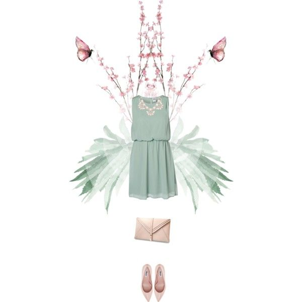 """nude green"" by essenceve on Polyvore"