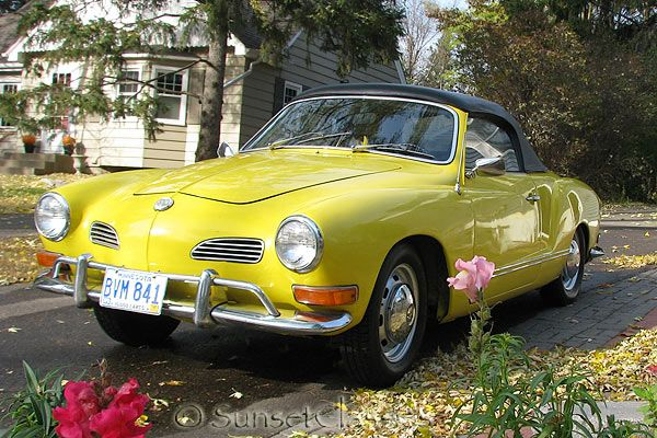 Volkswagon, Karmann Ghia, Convertible...  Needs some coral sparkles in the paint.  Otherwise perfect.