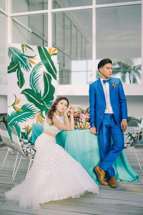Colorful Tropical Destination Wedding ceremony Shoot   Wedding