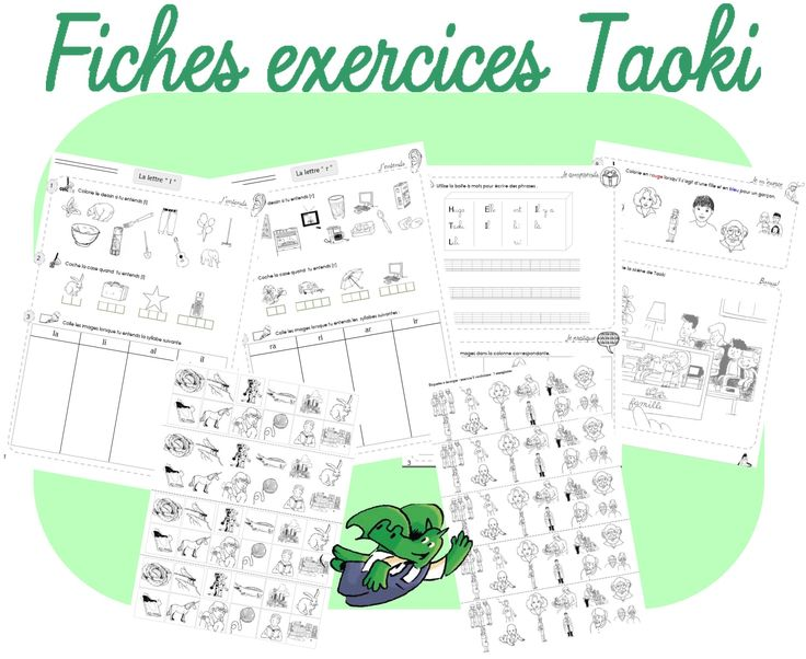 Fiches exercices Taoki - Dans ma trousse, il y a...
