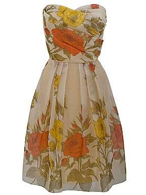 vintage silk flower dress: Silk Dress, Yellow Vintage, Flowers Dresses, Silk Flowers, Silk Prom, Vintage Silk, Prom Dresses, Gardens Parties, Floral Dresses