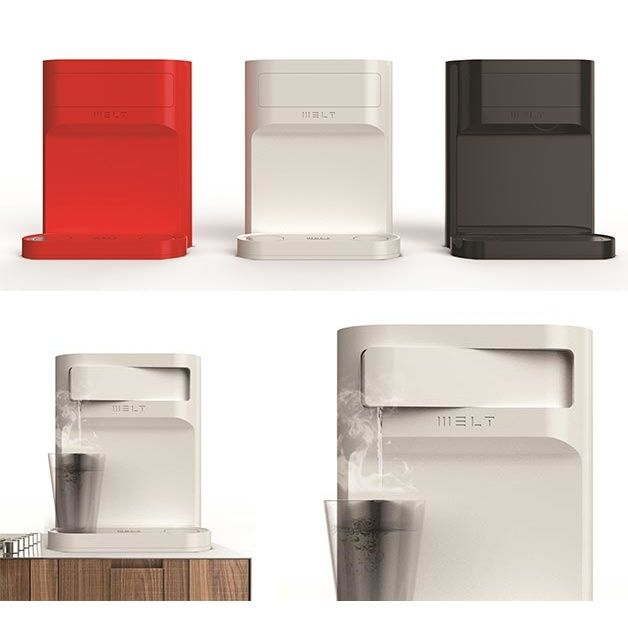 MELT is a hot- and cold-water purifier that reinvents the user interface of this common product. Reddot design award winner 2013