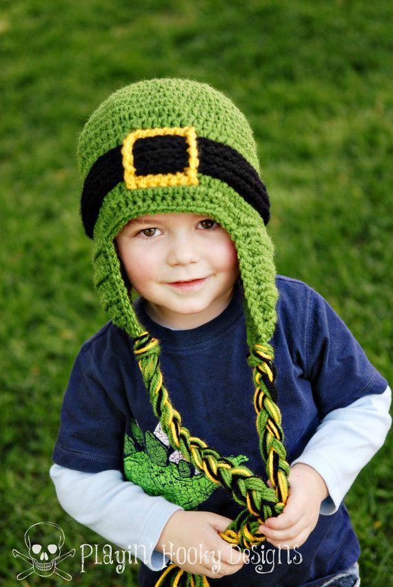 Leprechaun Beanie St. Patrick's Day  Kids by PlayinHookyDesigns, $25.00