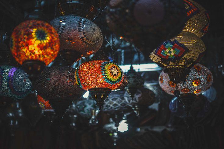 #creative #dark #decoration #ethnical #ethno #india #lamp #lantern #light #mozaic #night #ornament #shop #store #street