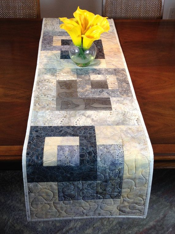 Hey, I found this really awesome Etsy listing at https://www.etsy.com/listing/505075523/modern-batik-table-runner-handmade-grey