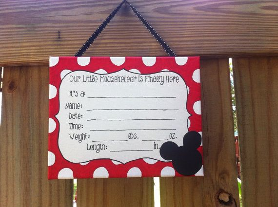 Mickey Mouse, Minnie Mouse gender surprise, gender neutral, baby hospital door decoration, nursery door sign on Etsy, $25.00