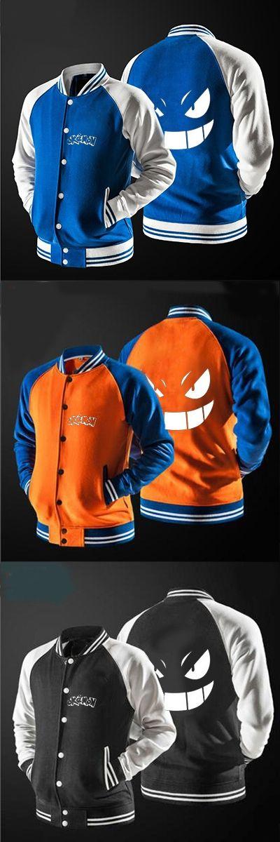 2017 new arrival baseball jacket anime pokemon Pikachu print man jacket, USA size, free shipping