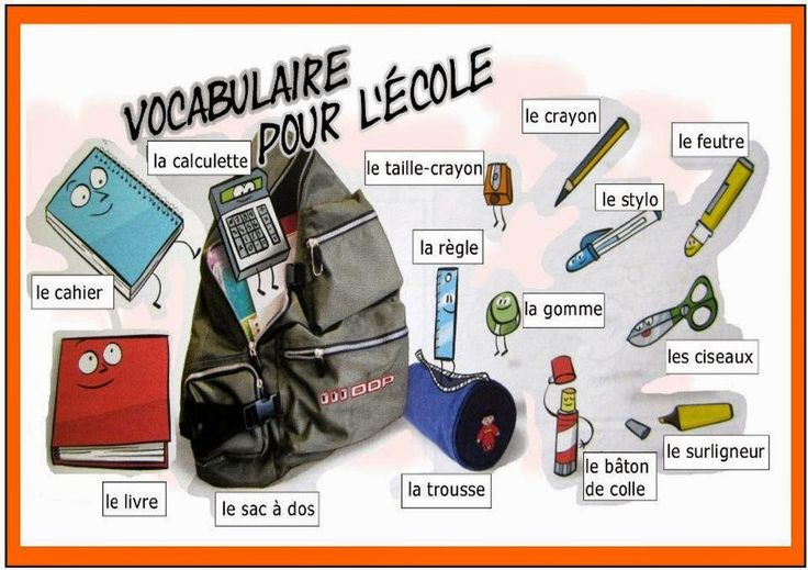 Vocabulario sobre Les affaires scolaires // El material escolar Fuente : francesalalfredayza.blogspot.be