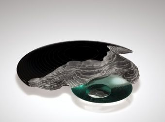Cosmic Dream, Maria Lugossy, Budapest, Hungary, 1991. Gift of the Ben W. Heineman Sr. Family. 2007.3.87. #corningmuseumofglass #cmog #glass #contemporary #contemporaryglass #sculpture #green
