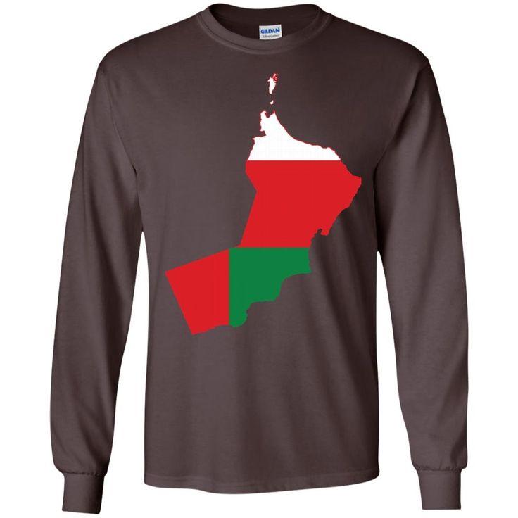Oman flag -01 G240 Gildan LS Ultra Cotton T-Shirt