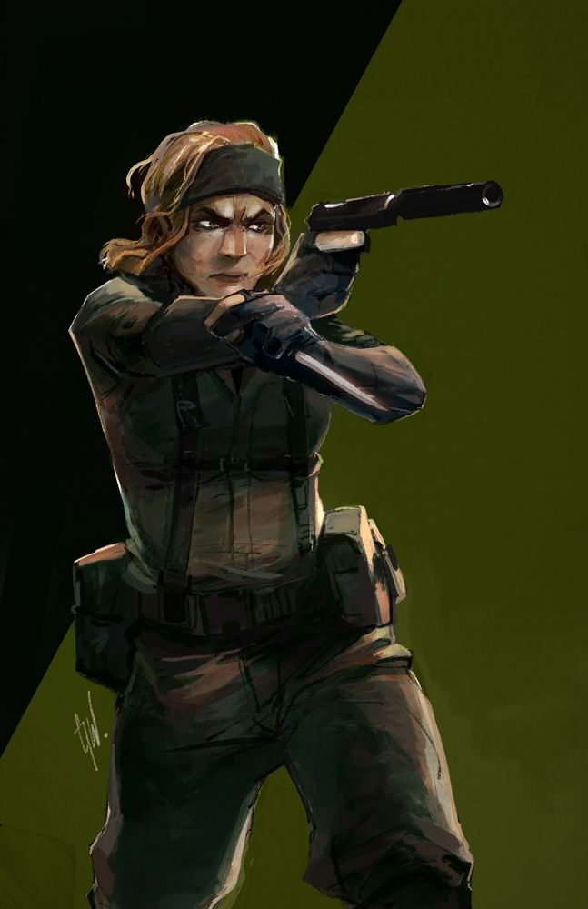 A Metal Gear Solid game with The Boss as the main playable character would be epic.  - credit to unartifex.tumblr.com