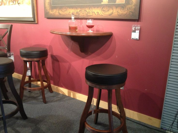 More man cave ideas - wall table great for drinks if you have no tables.  http://www.billiardfactory.com/