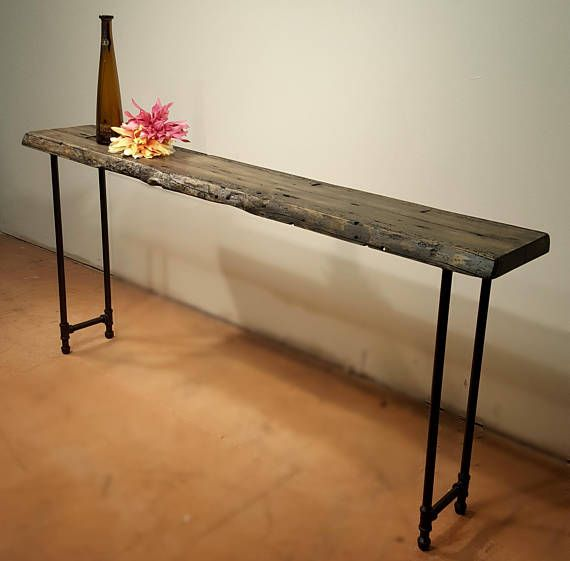 Narrow Console Table Reclaimed Wood Table Accent Table Long Etsy Narrow Console Table Long Sofa Table Reclaimed Wood Table
