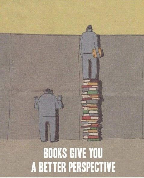 Books are good.